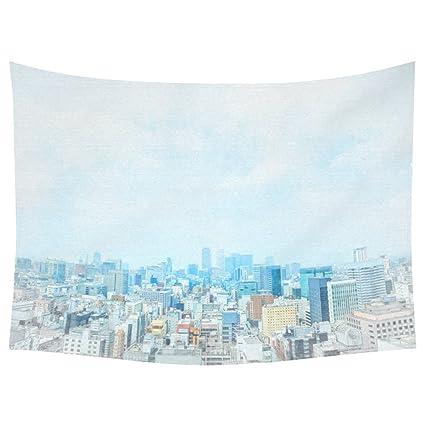 Amazon INTERESTPRINT Sketch City Skyline Home Decor Tapestries