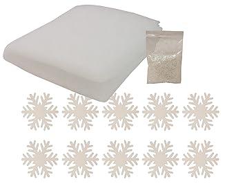 Weihnachtsdeko Watte.Heitmann Deco Schnee Set Deko Schneeflocken Kunstschnee Pulver Decke Aus Schnee Watte Winter Dekoration Weihnachtsdeko
