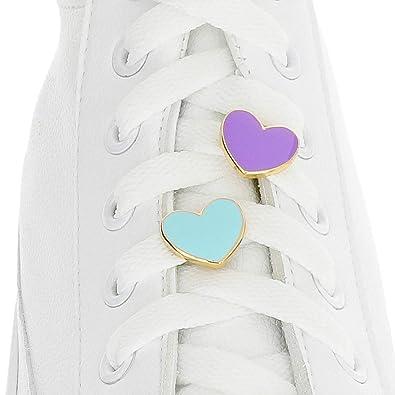 Ciondoli per lacci delle scarpe, a forma di cuore, con