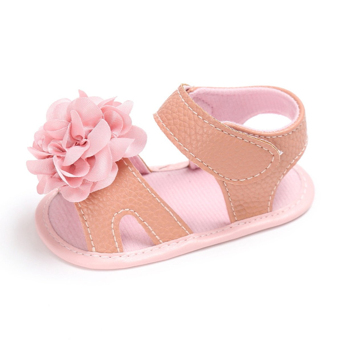 LUWU Baby Girls Flower Bowknot Princess Sandals Anti-Slip Sole Toddle Shoes