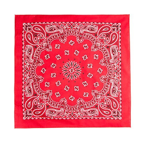 "Bandanas by Bandana Soul­ - Double Sided Headband, Wrap, Scarf - 21.5 x 21.5"" - 100% Cotton"