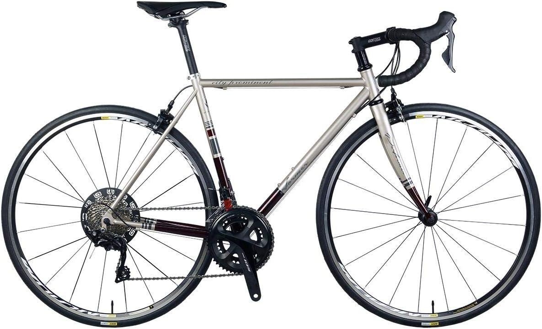 *Pro-Performer プロパフォーマー*〈CITY PROMINENT〉700C ロード バイク Shimano 105 22s Road Bike チタン/赤