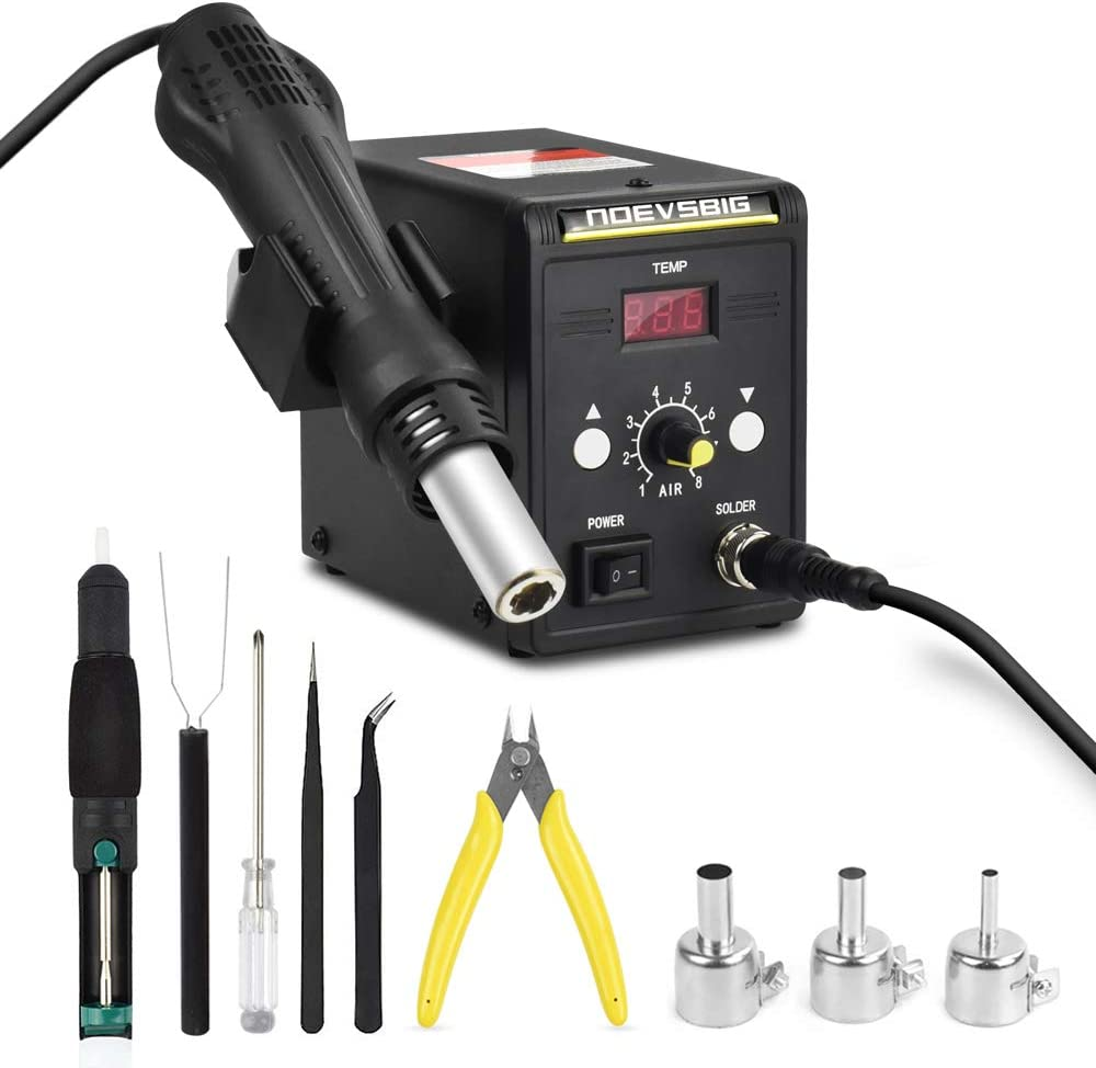 Hot Air Rework Station Kit with Digital Display SMD Desoldering Rework Station for BGA IC 700W 500°C