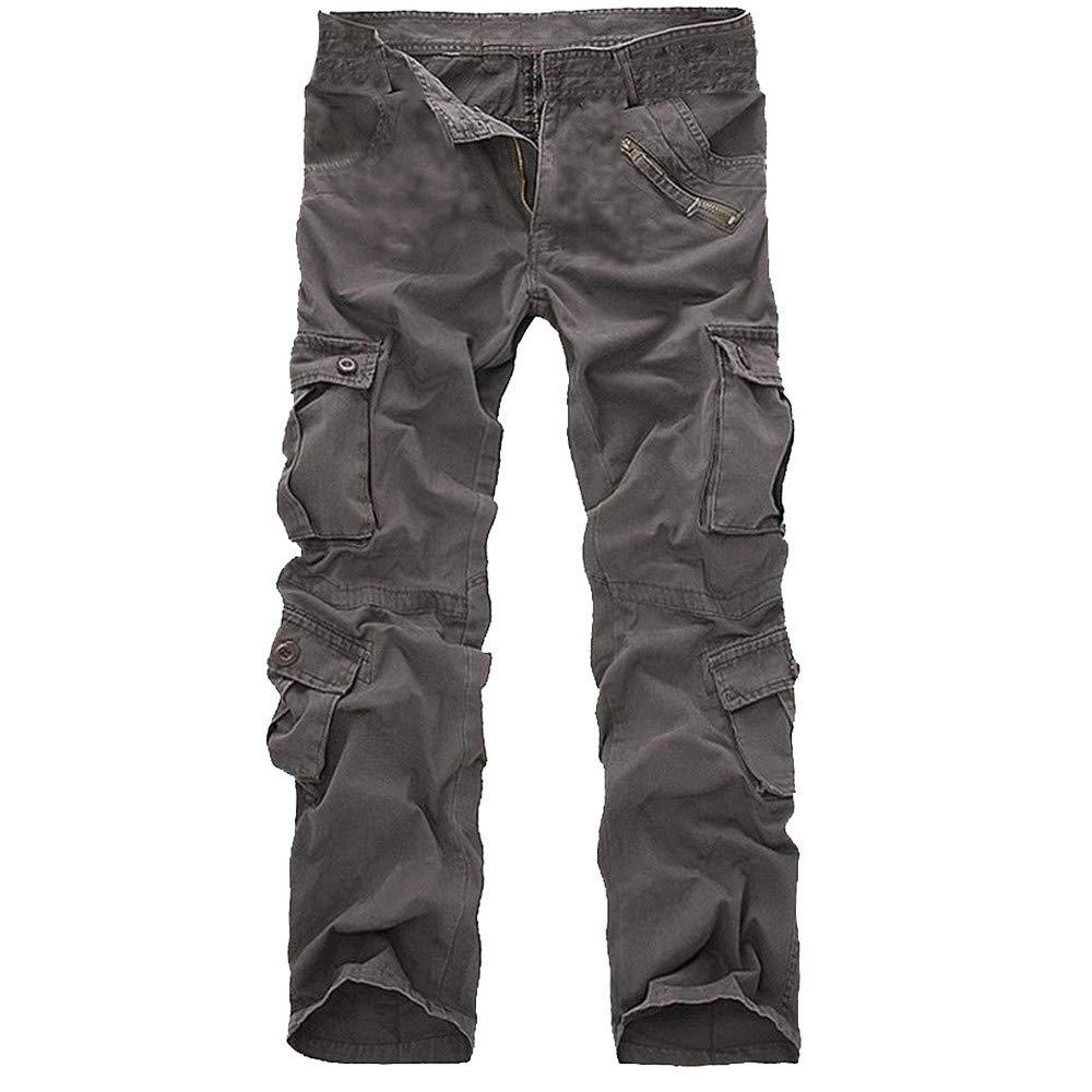 Men's Fashion Casual Cotton Multi-Pocket Outdoors Work Cargo Long Pants Hot Sale Trouser
