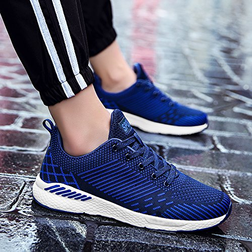 BIGU Blue Shoes Running Shoes Sports Lightweight Womens Outdoor Flying Mens Fabric Couple Walking Shoes Sneakers Shoes Shoes Gym Casual Athletic Breathable Trainers 44B1qrZx