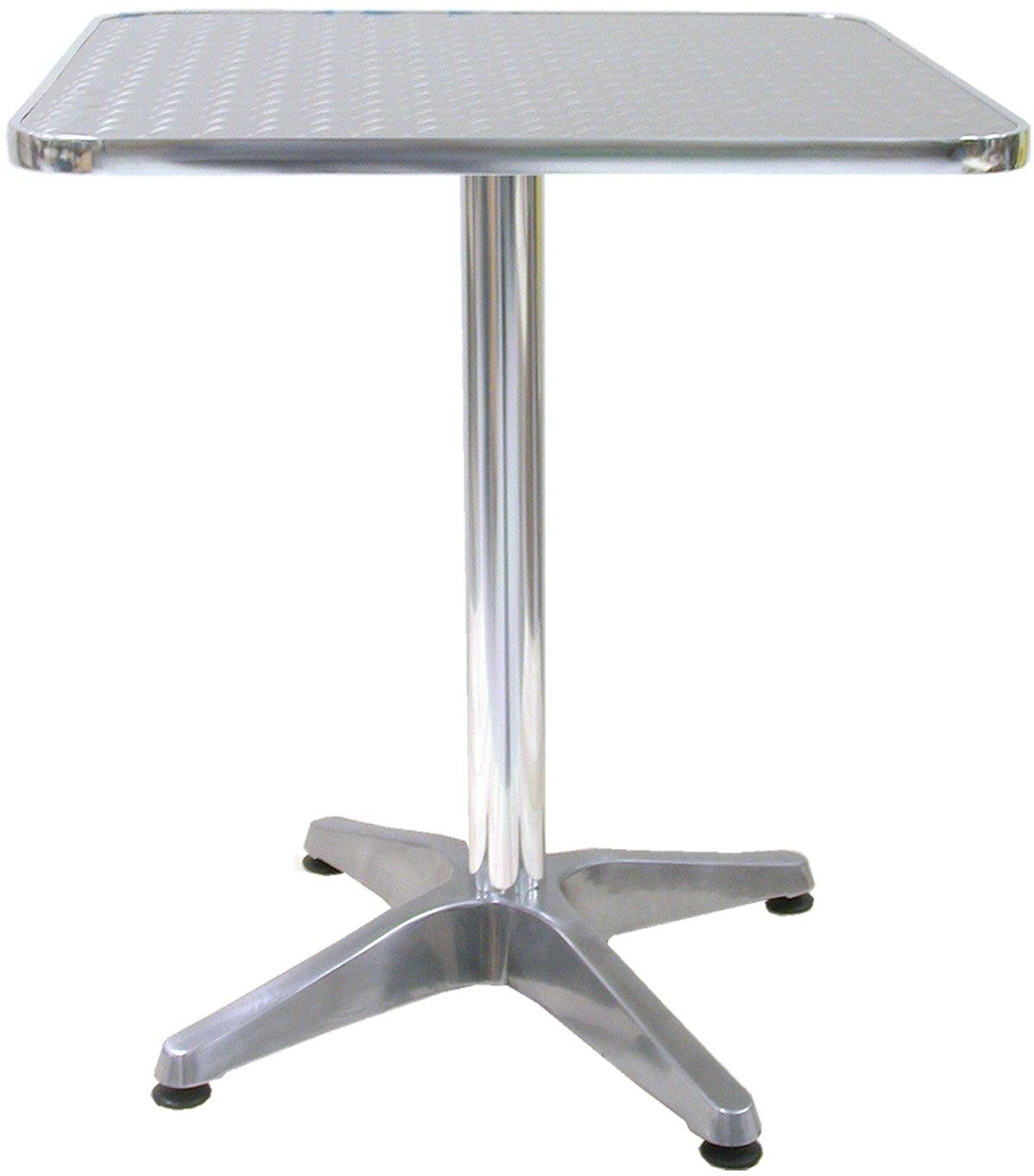 Tavolo Bar Bistrot in Alluminio 60x60 per Interno e Esterno ...