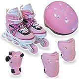 リップスライド(RIP SLIDE) アジャスタブルインラインスケート5点セット ピンク Sサイズ 20075 20075 S