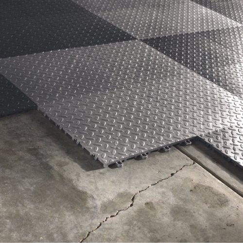 Gladiator GAFT04TTPS Silver Floor Tile, 4-Pack