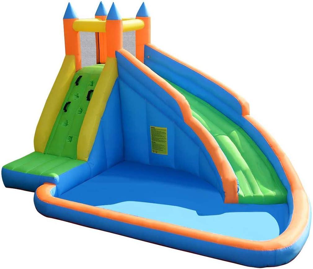 Castillo Hinchable para Niños, Hamaca Inflable con Piscina De ...