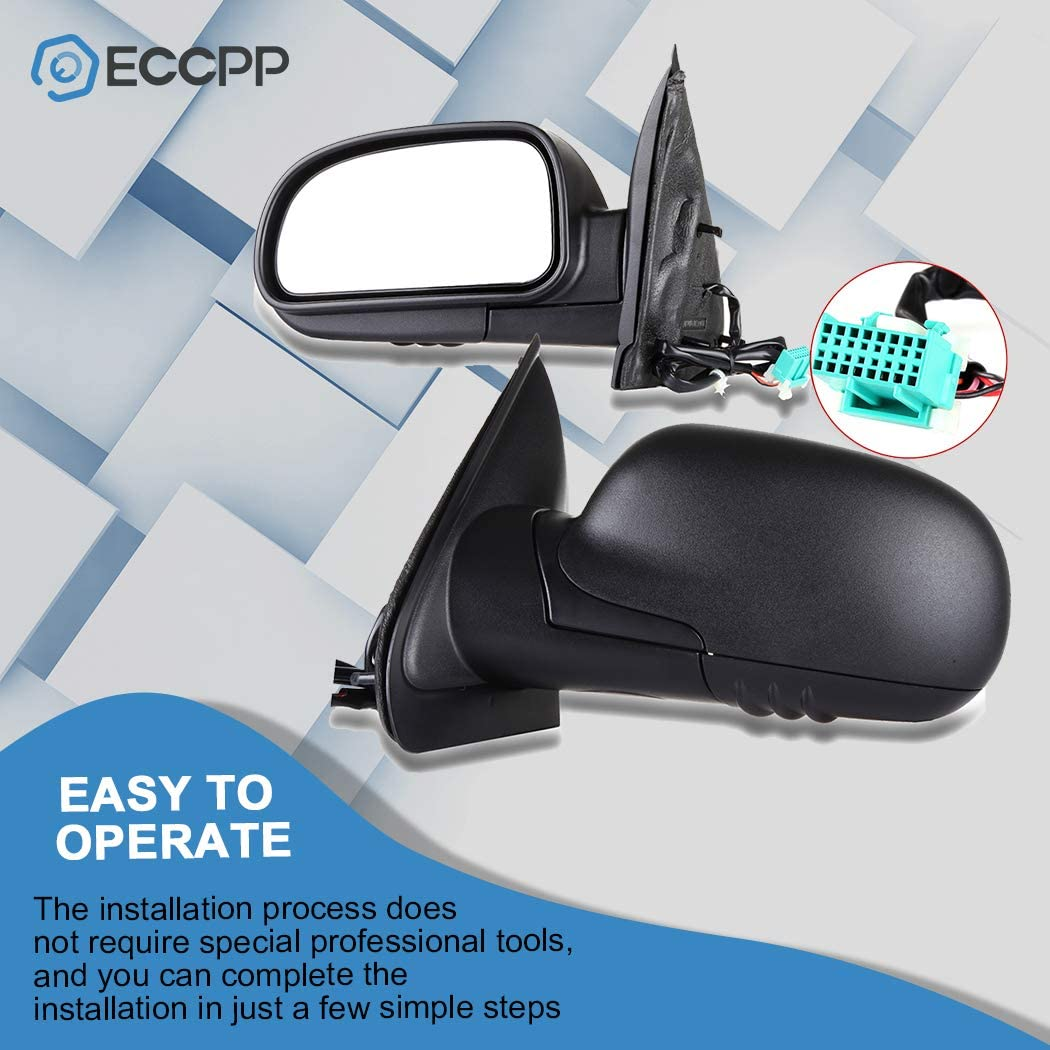 SCITOO Side View Mirror Driver Side Mirror Fit Compatible with 2002-2009 Chevrolet Trailblazer GMC Envoy 2002-2006 Chevrolet Trailblazer EXT GMC Envoy XL 2004-2005 GMC Envoy XUV GM1320265