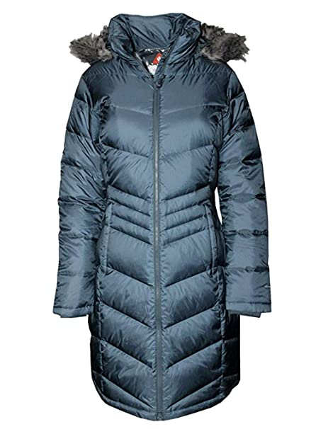 Columbia Women Polar Freeze Long Down Jacket Omni Heat Winter Coat