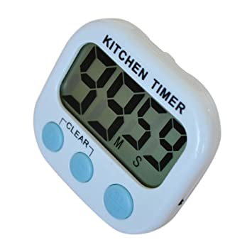 Temporizador digital de cocina, Learnin Digital temporizador de cocina (grandes dígitos LCD cuenta hasta reloj alarma Gadget: Amazon.es: Hogar
