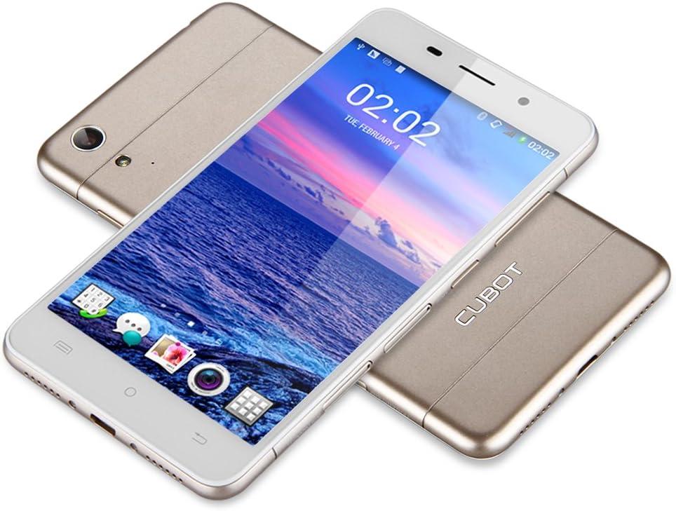 Cubot X9 Smartphone 3 G – 5,0 Pulgadas IPS, Android 4.4.4 Octa Core 2 G RAM + 16 G ROM, Dual SIM, OTG GPS WiFi Móvil, Oro: Amazon.es: Electrónica