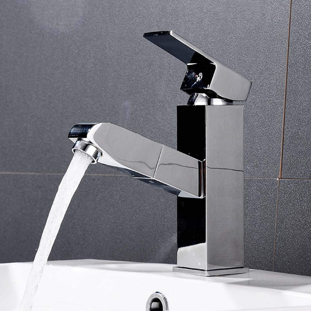 JTY Single Handle Kitchen Sink Faucet with Pull Out Sprayer and Magnetic Docking Spray Head One Handle Pullout Kitchen Faucet Resist Stainless