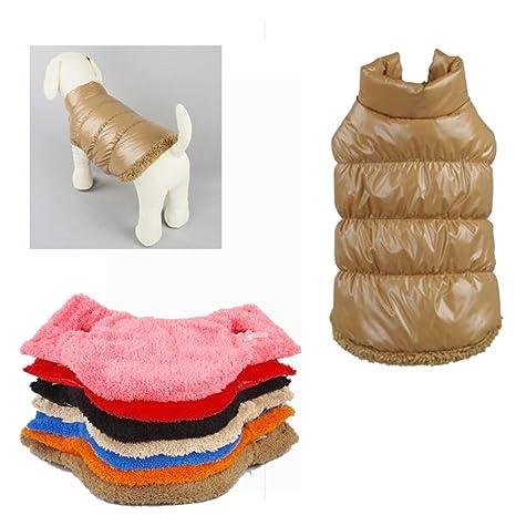 Rantow Otoño Invierno Mascota Gato del Perro: Ropa Abrigo cálido, Chaqueta con Capucha de