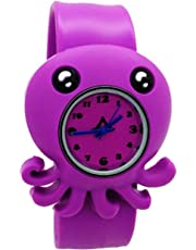 SODIAL Children's Watches Cartoon Kids Wrist Baby Watch Clock Quartz Watches for Gifts Relogio Montre Small octopus