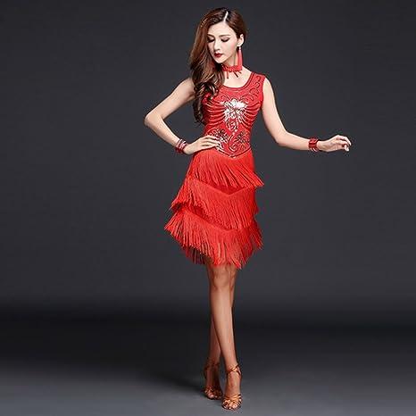 Las Mujeres Clásicas De Baile Latino Falda De Baile Latino Vestido ...