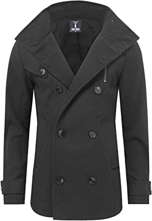 ainr Mens Classic Long-Sleeved Double-Breasted Slim Fit Suit Vest