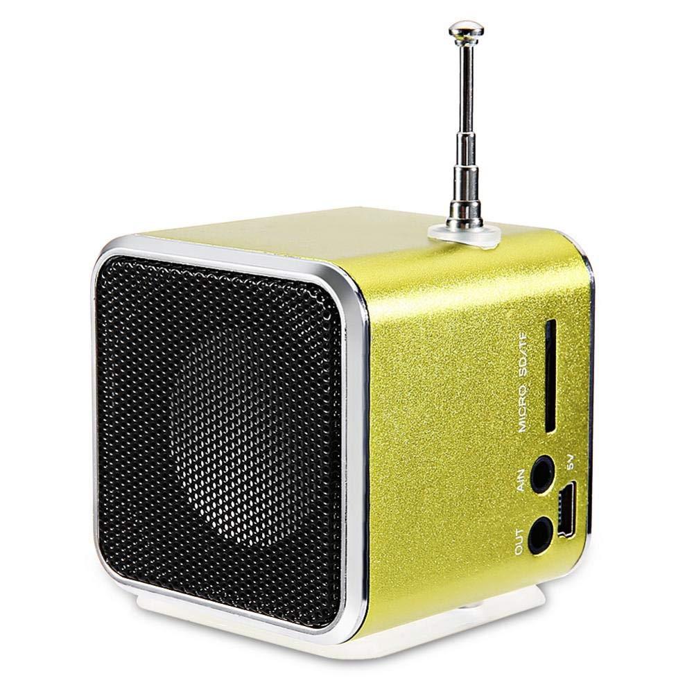Mini Altavoces QSJWLKJ con Tarjeta de Radio FM portátil ...
