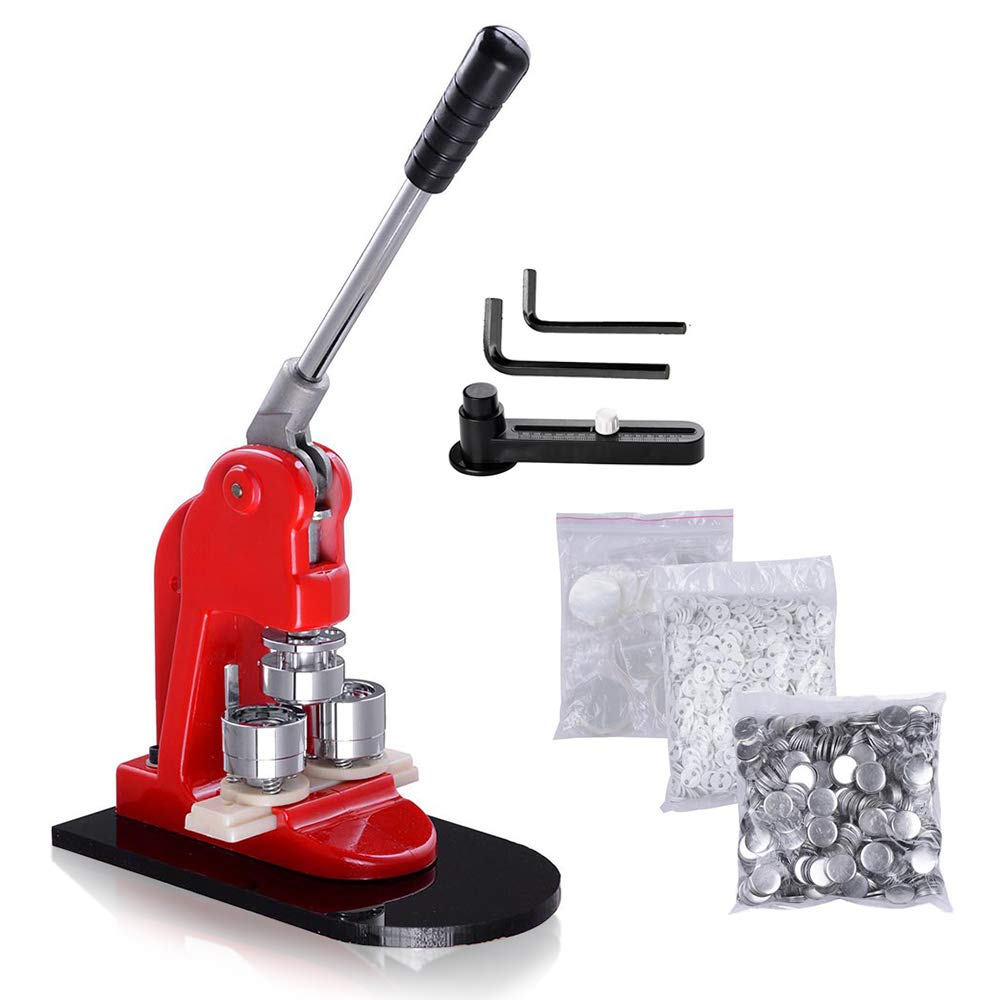 WeChef Button Maker 25mm Punch Press Machine 1 inch with 1000pcs Free Pin back Button Parts and Circle Cutter by WeChef