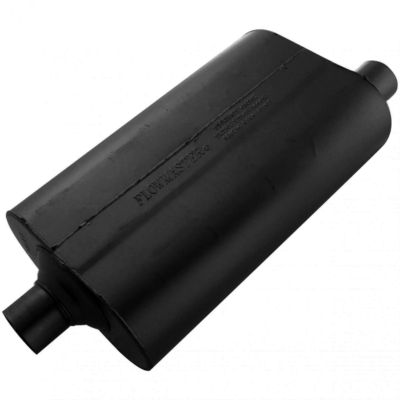2.25 Offset OUT Moderate Sound Flowmaster 52457 Super 50 Muffler 2.25 Center IN