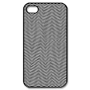 zig zag pattern aztec black white iPhone 4/4s Case Black hjbrhga1544