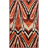 Safavieh Kashmir Collection KAS114A Orange and Multi Polyester Area Rug (5′ x 8′) For Sale