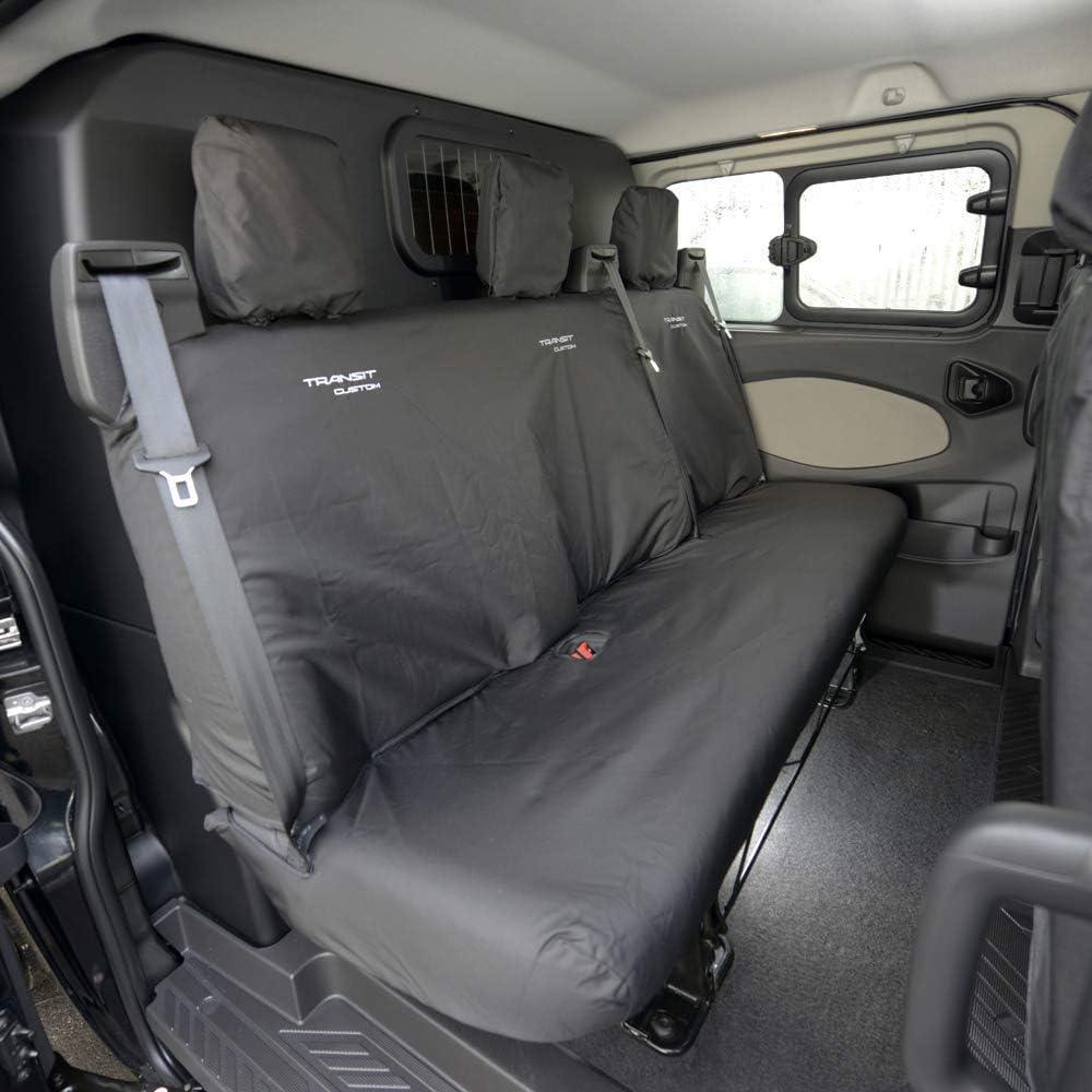 UK Custom Covers SC431B-432B Tailored Heavy Duty Waterproof Front /& Rear Seat Covers Black