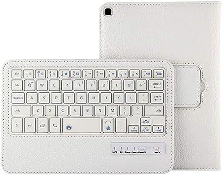 RLTech Teclado Funda para Galaxy Tab A 8.0 2019, (QWERTY English) Teclado Wireless Keyboard Case con Magnético Desmontable Inalámbrico Bluetooth para ...