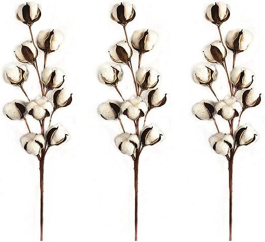 LanLan Flores Artificiales de algodón de decoración, Flores ...