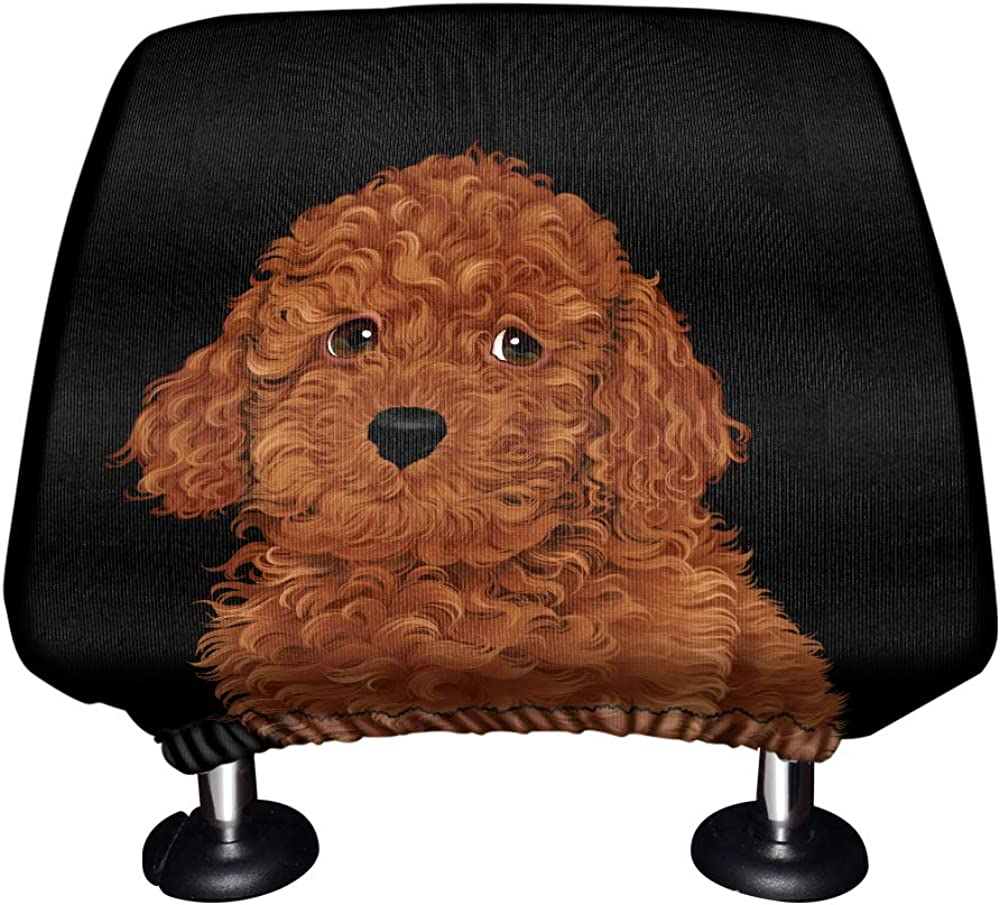 Cute Animal WIRESTER Car Seat Head Rest Cover Protective Fabric Design Cover Decoration for All Cars