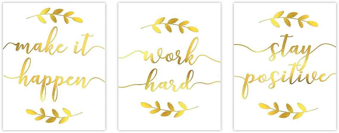 You Can Do Hard Things Quote Wall Art Positive Quote Print Inspirational Print Gold Foil Print Typography Print Motivational Quote