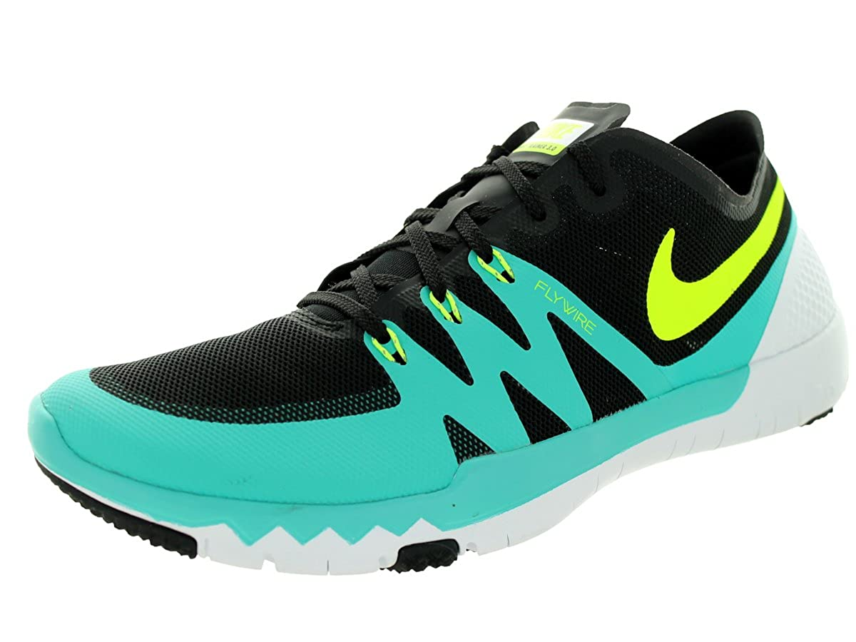 best service bfb6d 0b79e Amazon.com   NIKE Men s Free Trainer 3.0 V3 Black Volt Lt Retro White  Training Shoe 8.5 Men US   Shoes