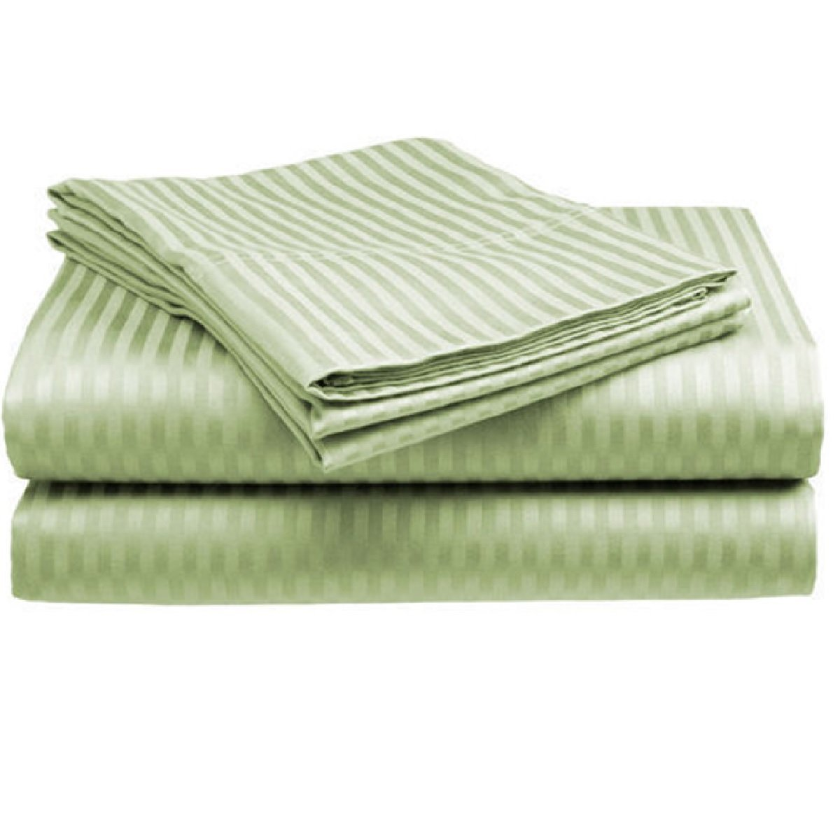 Amazon.com: QUEEN SIZE 1500 Thread Count STRIPED Sheet Set, SAGE: Home &  Kitchen