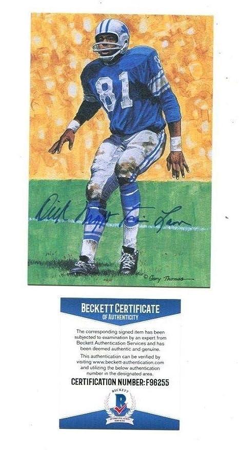 a7cc235a1 Dick Night Train Lane Signed Auto Goal Line Art GLAC Lions Beckett BAS  F96255 - Beckett