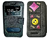 BKDT Marketing Diamond studded, Stone Glittering Flip Cover Case Stand for Samsung Galaxy J3 Emerge with Dislay Window and Stand with Crystals Decoration