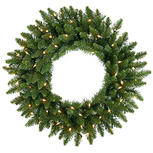 Tree Camdon Christmas Fir (Vickerman Clear Dura-lit Lights Frosted Bellevue Alpine Artificial Christmas Wreath, 20-Inch)