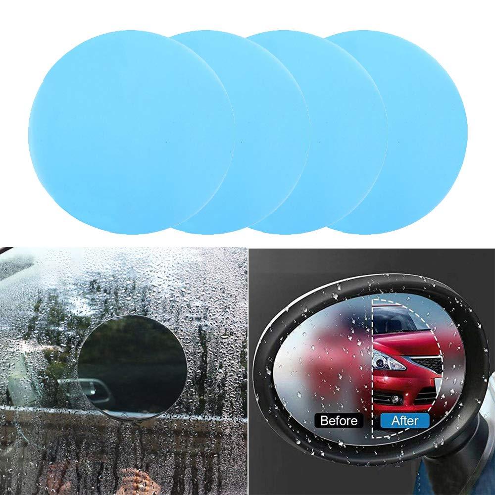 LERTREE 4Pcs Car Rearview Mirror Waterproof Anti-Fog Rain-Proof Film Side Window Glass Film