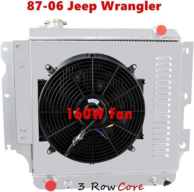 3 ROW for JEEP WRANGLER YJ//TJ 2.4L 2.5L 4.0L 4.2L 1987-2006 AT ALUMINUM RADIATOR
