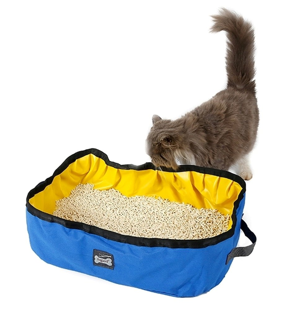 DogLemi@ Foldable and Portable Cat Litter Box Waterproof Pet Kitty Litter Pan for Travel Drive Emergency with Litter Scoop (PS-PD60004)