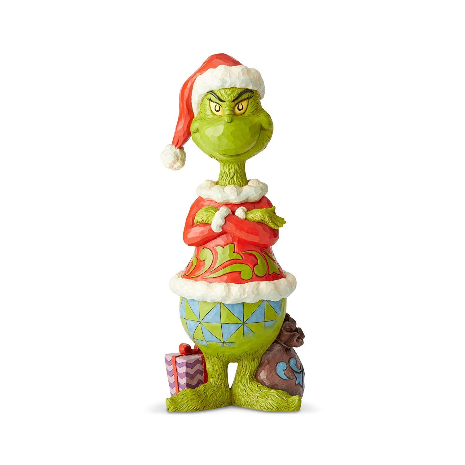 Enesco Grinch by Jim Shore Grinch Statue with Arms Folded Statue, 20''     by Enesco