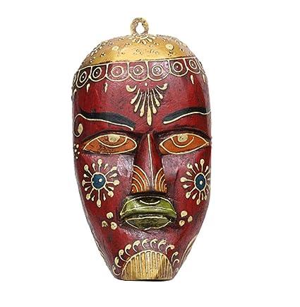 apkamart hand crafted wooden tribal mask 9 inch handicraft