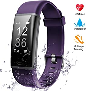 Lintelek Fitness Tracker Heart Rate Monitor, Activity Tracker, Pedometer Watch with Connected GPS, Waterproof Calorie Counter, 14 Sports Modes Step Tracker for Women, Men and Gift