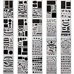 Why Choose Us ( CH HAICHENG Journal Stencil)  20 different high quality journal stencil set consist of figures,geometry pattern,mathematical symbols,animal etc.Everything you could possibly want.Not only be used for a variety of paintings or ...