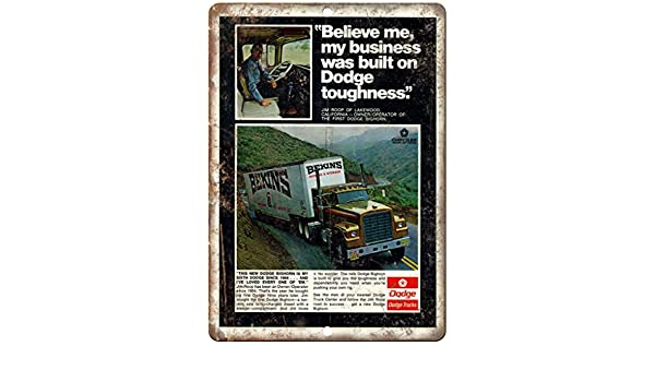 """Dodge Bighor Truck Ad Benkins Vintage Ad 10/"""" x 7/"""" Reproduction Metal Sign A256"""