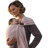 Lujo Anillo Lleno Portabebés - Extra suave de bambú y tela de lino, apoyo completo y comodidad para recién nacidos, bebés y niños pequeños - mejor regalo de ducha para bebé - Ideal para hombres