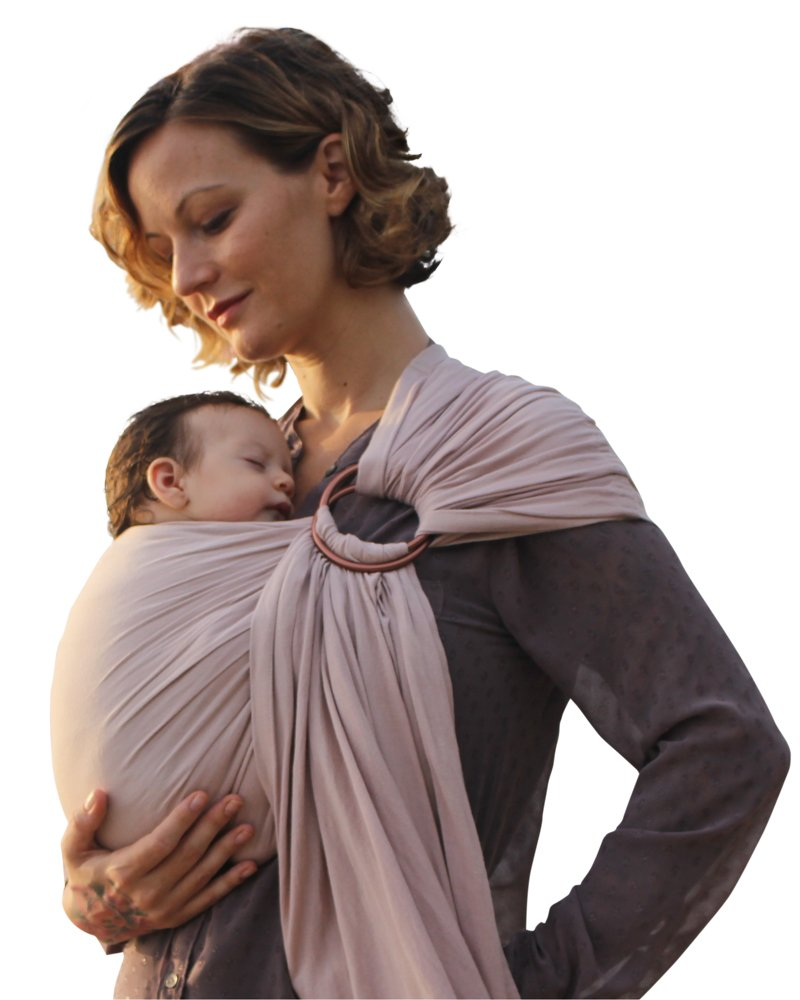 Luxury Ring Sling Baby Carrier for Newborn– extra-soft bamboo and linen fabric