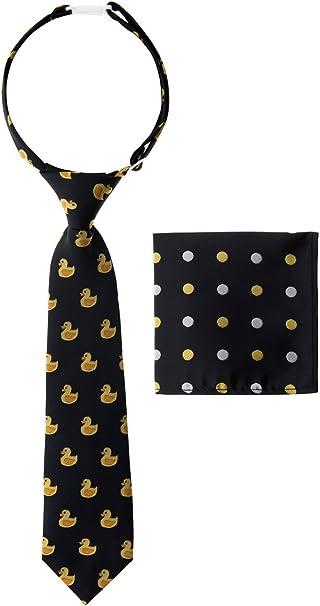Canacana - Corbata de goma para niño, diseño de pato con lunares ...