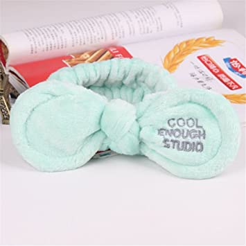 3aaf67a0a91 Amazon.com   Headwear Big Rabbit Ear Soft Towel Hair Band Wrap Headband For Bath  Spa Make Up Women Girls Face Washing Elastic Soft Headband   Beauty