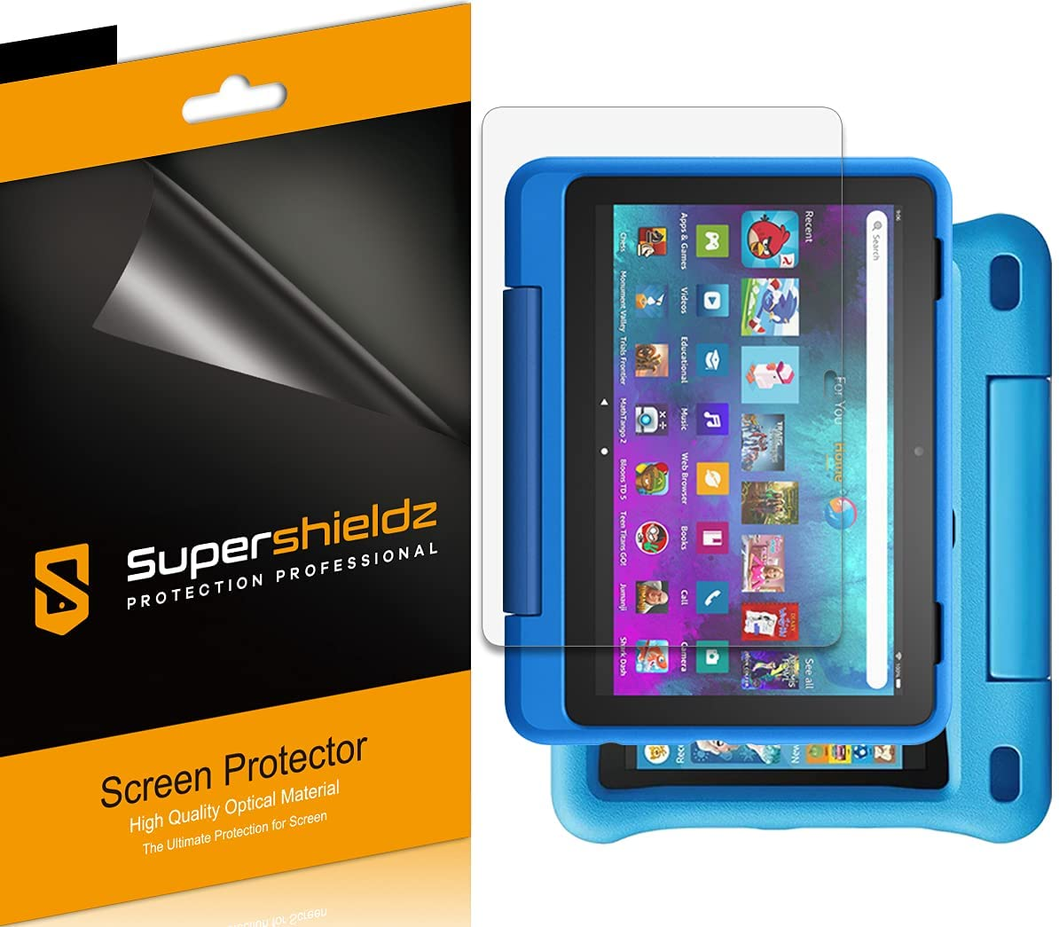 (3 Pack) Supershieldz Designed for All-New Fire HD 8 Kids and Fire HD 8 Kids Pro Tablet 8 inch (10th Generation - 2020 Release) Screen Protector, High Definition Clear Shield (PET)